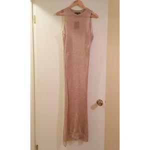 FOREVER 21 High Slit Rose Gold Top